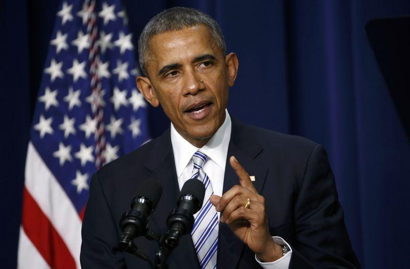 U.S. President Obama addresses the White House Summit on Countering Violent Extremism in Washington